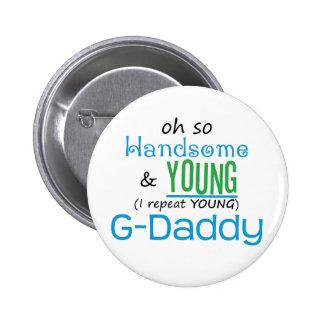 G-Papá hermoso y joven Pins