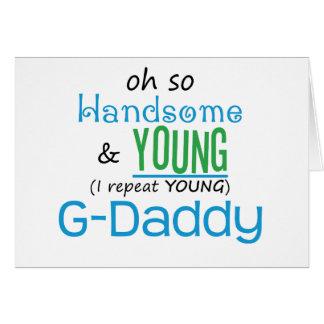 G-Papá hermoso y joven Tarjetas