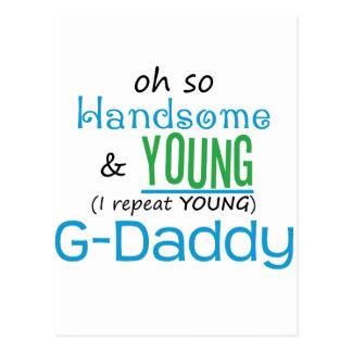 G-Papá hermoso y joven Postal