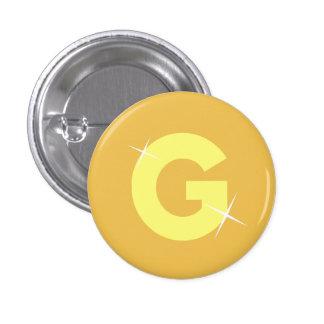 G para el oro chapa redonda 2,5 cm