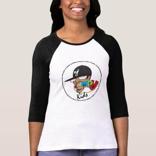 G.R.U.M.P.Y. Camiseta del raglán