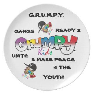 G.R.U.M.P.Y. PLATO DE CENA