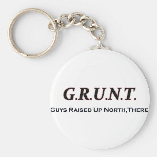 G.R.U.N.T. (Individuos educados encima del norte,  Llavero Redondo Tipo Pin