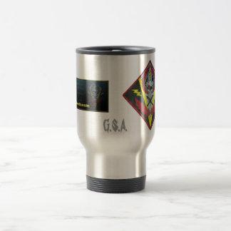 G.S.A. crest/banner travel mug