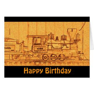 G Scale Model Train - Happy Birthday Greeting Card