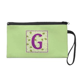 G-Spring Green Floral Wristlet