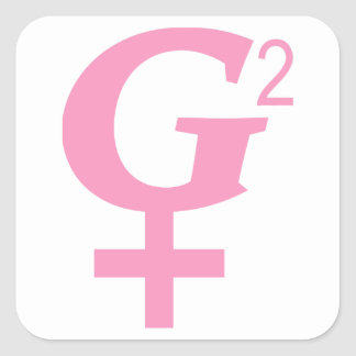 G-Squared Great Grandmother Symbol Square Sticker