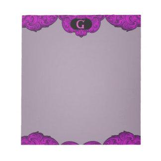 G - The Falck Alphabet (Pink) Note Pad