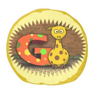 G tiene gusto de la jirafa puf redondo