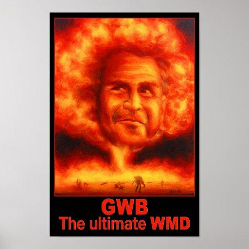 G W Bush - WMD Print