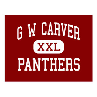 G W Carver - Panthers - High - Houston Texas Postcard