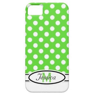 G & W Polka-dot Monogram iPhone 5 Case