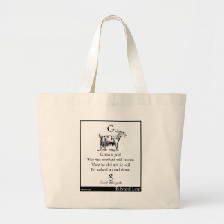 G was a goat tote bags