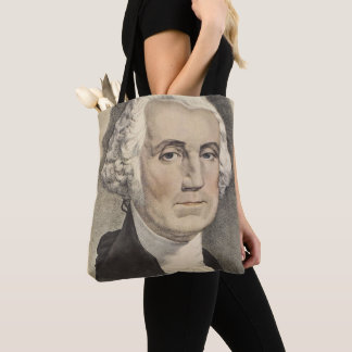 G Washington, Currier and Ives Tote Bag