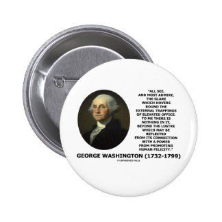 G. Washington External Trappings Elevated Office 2 Inch Round Button