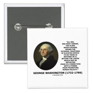 G. Washington External Trappings Elevated Office 2 Inch Square Button