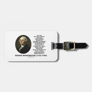 G. Washington External Trappings Elevated Office Bag Tag