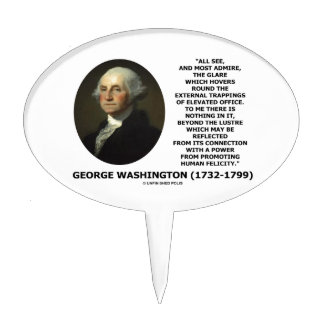 G. Washington External Trappings Elevated Office Cake Topper
