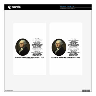 G. Washington External Trappings Elevated Office Decal For Kindle Fire