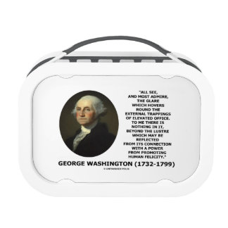 G. Washington External Trappings Elevated Office Lunch Box