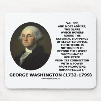 G. Washington External Trappings Elevated Office Mouse Pad