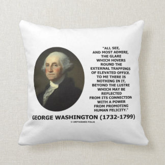 G. Washington External Trappings Elevated Office Throw Pillow
