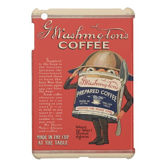 G  Washington Instant Coffee WW1 Vintage Patriotic iPad Mini Cover