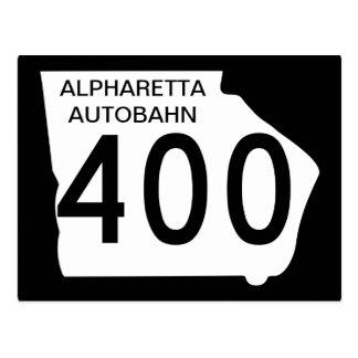"GA 400 ""Alpharetta Autobahn"" Postcard"