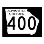 """GA 400"""" Autobahn de Alpharetta """" Postal"""
