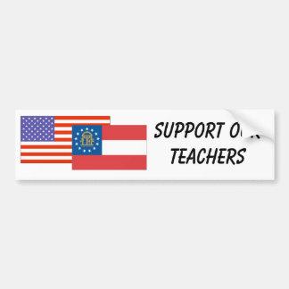 GA--Apoye a nuestros profesores Pegatina Para Auto