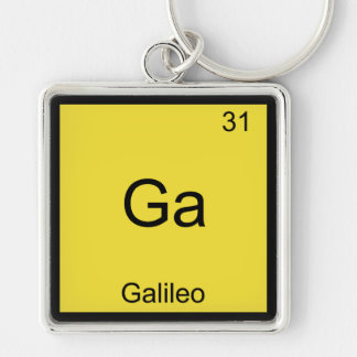 GA - Camiseta divertida del símbolo del elemento d Llavero