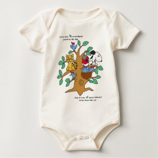 GA- Cat and Dog in Tree Baby Infant /Creeper Baby Bodysuit