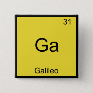 Ga - Galileo Funny Chemistry Element Symbol Tee Button