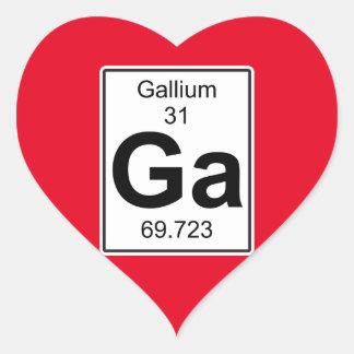 Ga - Gallium Heart Sticker