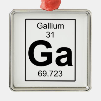 Ga - Gallium Metal Ornament