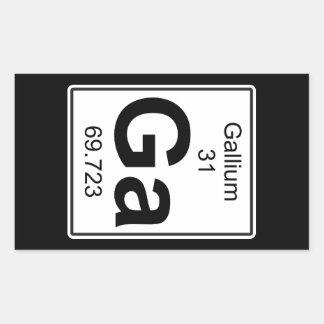 Ga - Gallium Rectangular Sticker