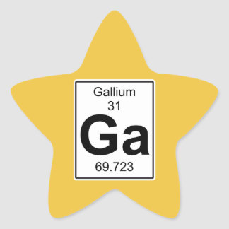 Ga - Gallium Star Sticker