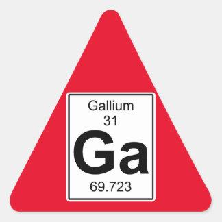 Ga - Gallium Triangle Sticker