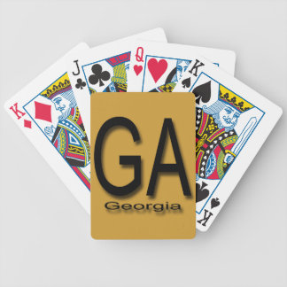 GA Georgia  black Bicycle Playing Cards