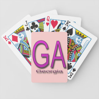 GA Georgia  magenta Bicycle Playing Cards