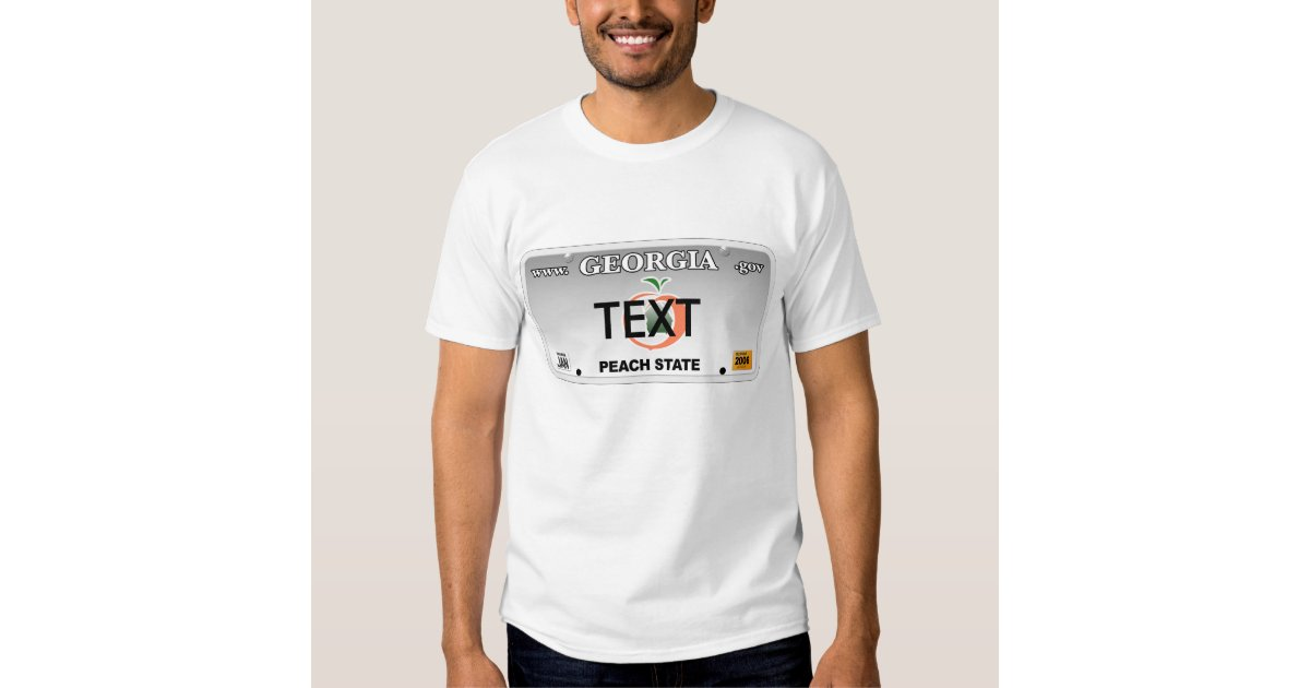 Ga license plate t shirt zazzle for T shirt licensing agreement