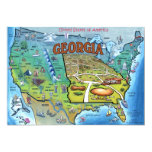 "GA USA Map Card 5"" X 7"" Invitation Card"