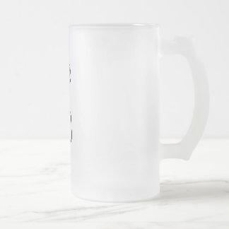 GABA Neurotransmitter Frosted Glass Beer Mug