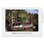 Gabarra del canal de Amsterdam - querido feliz de