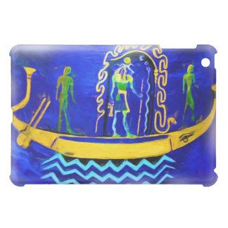 Gabarra egipcia del barco (en el aceite 2)