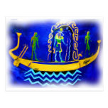 Gabarra egipcia del barco (en el aceite 2) tarjeta postal