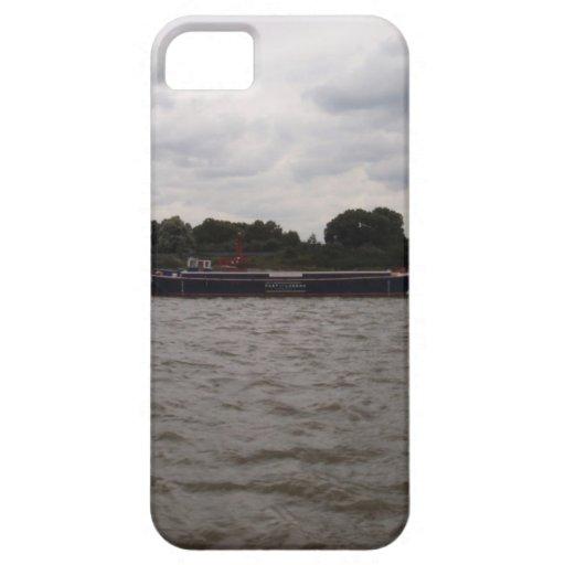 Gabarra en el Thames iPhone 5 Coberturas
