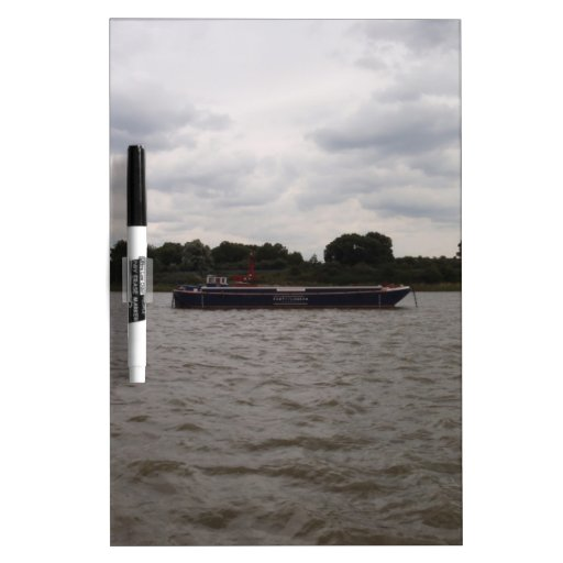 Gabarra en el Thames Pizarra Blanca