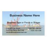 Gabarra flotante con la grúa colorida tarjetas de negocios