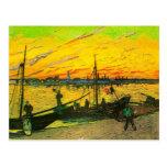 Gabarras del carbón de Van Gogh (F437) Postal
